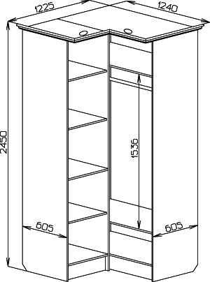 Встроенные шкафы своими руками чертежи и схемы