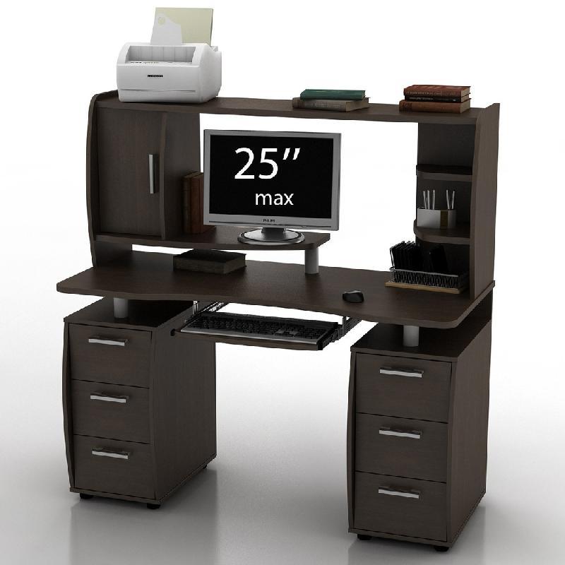 Столик компьютерный 1000 х 500 с надстройкой